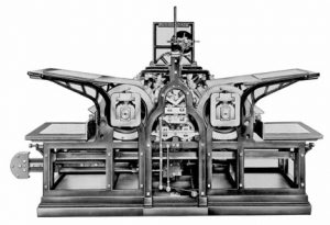 Koenig double cylinder steam press, 1814