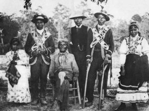 Black Choctaw family